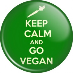 Przypinka Keep Calm and go Vegan