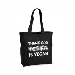 Thank God Vodka is Vegan - torba