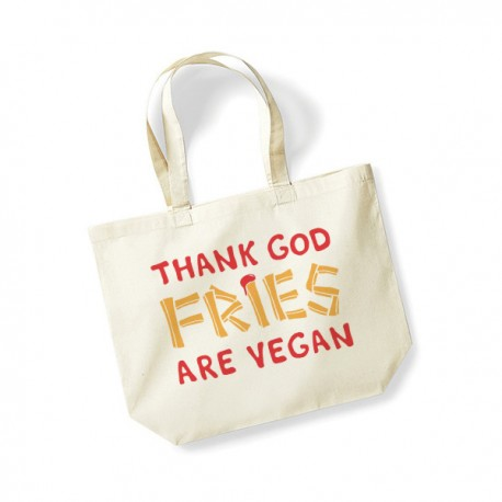 Thank God Fries are Vegan - torba